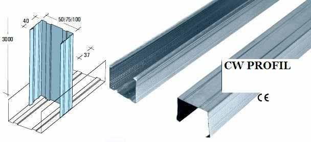 cw 75 gipszkarton profil 2 75 3 3 5 4 m terben. Black Bedroom Furniture Sets. Home Design Ideas